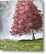 The Red Tree Metal Print