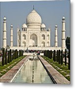 The Reflecting Pool In The Charbagh Or Metal Print