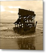 The Remains Of A Ship Metal Print