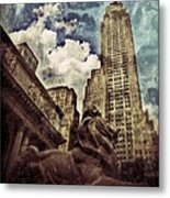 The Resting Lion - Nyc Metal Print