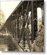 The Retired Railroad Bridge Metal Print