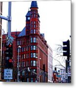 The Review Building Metal Print