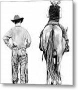 The Riding Lesson Metal Print