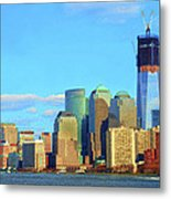 The Rising Freedom Tower Metal Print