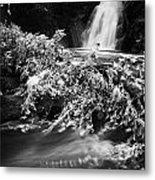 the river at the Gleno or Glenoe Waterfall beauty spot county antrim Metal Print