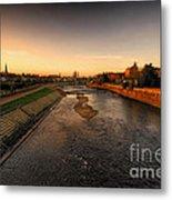 The River Exe At Tiverton Metal Print