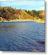 The River In Autumn Metal Print