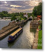 The River Thames At Goring Metal Print