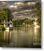 The River Thames At Streatley Metal Print