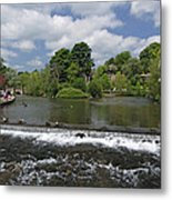 The Riverside And Weir - Bakewell Metal Print
