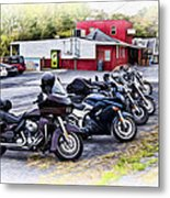 The Riverside Barr And Grill - Easton Pa Metal Print