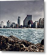 The Rocks_the Sea_the City Metal Print by Amr Miqdadi