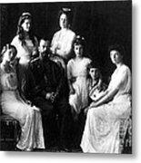 The Romanovs, Russian Tsar With Family Metal Print