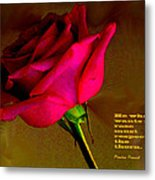 The Rose And Thorn Metal Print