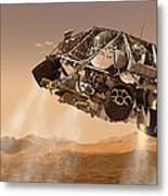 The Rover And Descent Stage For Nasas Metal Print