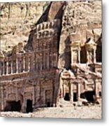 The Royal Tombs Petra, Jordan Metal Print by Marco Brivio