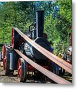 The Rumley Powering The Saw Metal Print