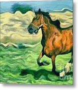 The Running Horse Metal Print by Odon Czintos
