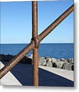 The Rust And The Sea Metal Print