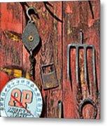 The Rusty Barn - Farm Art Metal Print