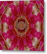 The Sacred Orchid Mandala Metal Print
