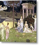 The Sacred Wood Cherished By The Arts And The Muses Metal Print