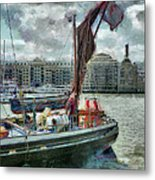 The Sailing Barge Lady Daphne Metal Print
