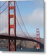 The San Francisco Golden Gate Bridge - 5d18906 Metal Print by Wingsdomain Art and Photography