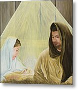 The Savior Is Born Metal Print