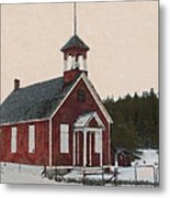 The School House Painterly Metal Print