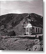 The Schoolhouse In Calico Ghost Town California Metal Print by Susanne Van Hulst