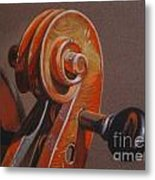 The Scroll and Pegs Metal Print
