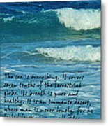 The Sea Poster Metal Print