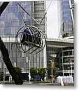 The Seat Of The G-max Reverse Bungee At The Clarke Quay In Singapore Metal Print