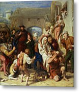 The Seven Ages Of Man Metal Print by William Mulready