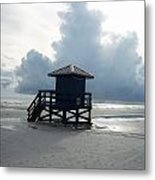 The Shack And The Storm Metal Print