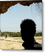 The Shadow And The Light Metal Print