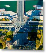 The Shadow Of The Eiffel Tower Metal Print