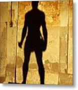 The Shadow Of The Statue Metal Print