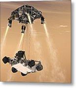 The Sky Crane Maneuver Metal Print