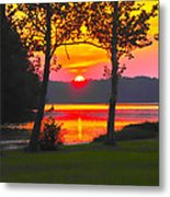 The Smiling Face Sunset Metal Print