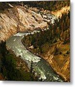 The Snaking Yellowstone Metal Print