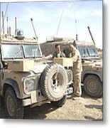 The Snatch Land Rover Used Metal Print