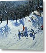 The Snowman  Metal Print by Andrew Macara