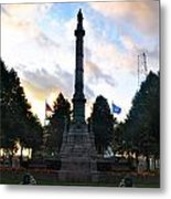 The Soldiers And Sailors Monument In Lafayette Square  Metal Print