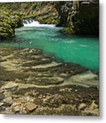 The Soteska Vintgar Gorge In Autumn Metal Print