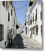 The Spanish Village Mijas Metal Print