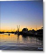 The Sponge Docks After  Sunset Metal Print