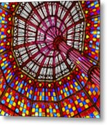 The Stained Glass Ceiling Metal Print