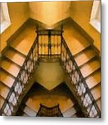 The Staircase Reflection Metal Print